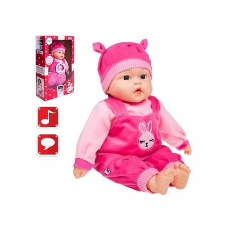 Slovensky mluvící a zpívající dětská panenka PlayTo Katarínka 46 cm