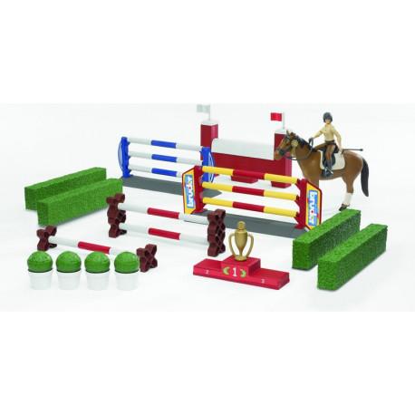 Bruder 62530 BWORLD - prekážka s koňom a figúrkou