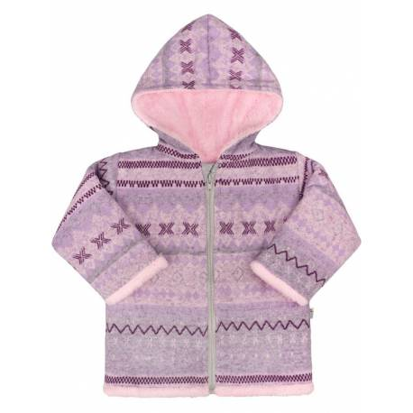 Zimní kojenecký kabátek Baby Service Etnik zima růžový