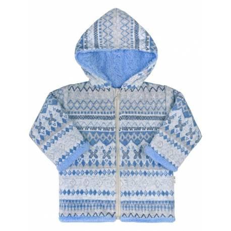 Zimní kojenecký kabátek Baby Service Etnik zima modrý