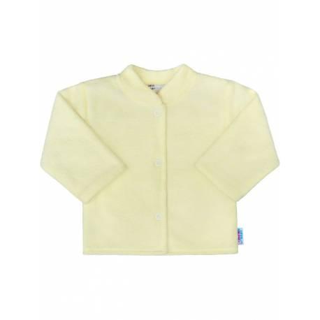 Kojenecký froté kabátek New Baby světle žlutý