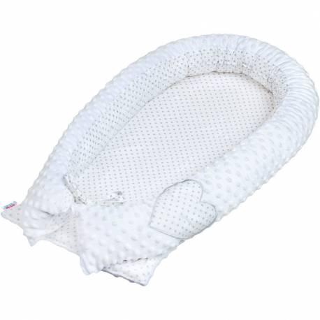 Luxusní Hnízdečko pro miminko z Minky New Baby bílé