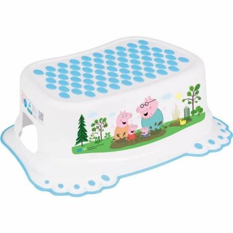 Dětské protiskluzové stupátko do koupelny Prasátko Peppa white-blue