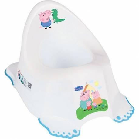 Hrající dětský nočník protiskluzový Prasátko Peppa white-blue