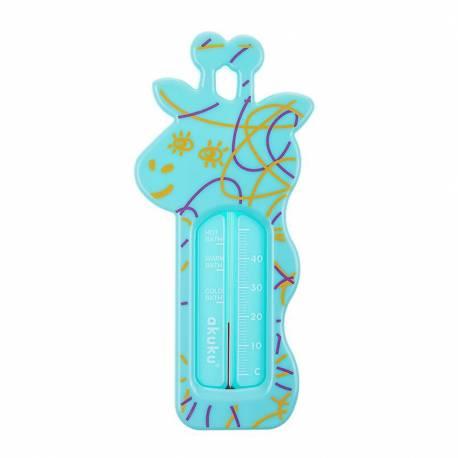 Dětský teploměr do vaničky Akuku Žirafa green