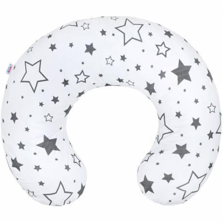 Kojící polštář New Baby hvězdy šedé