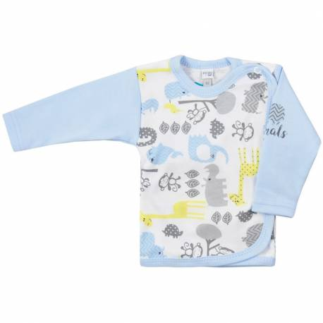 Kojenecká košilka Koala Animals in ZOO modrá