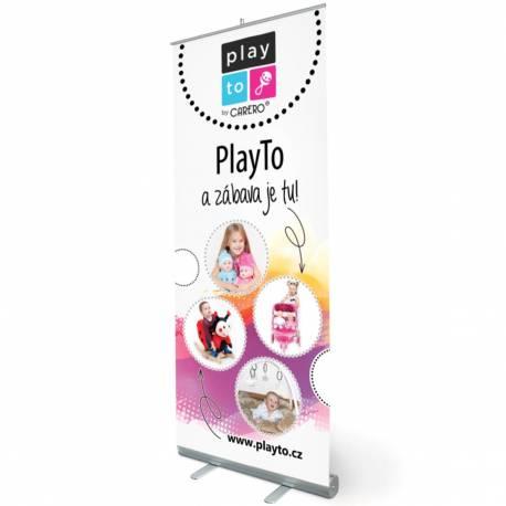 Reklamní Roll-up banner PlayTo