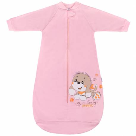 Kojenecký spací pytel New Baby pejsek růžový