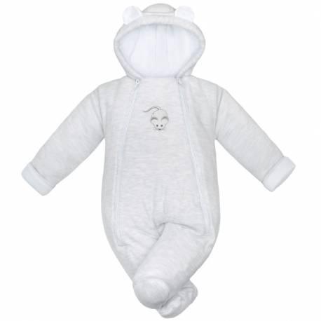 Zimní kojenecká kombinéza Baby Service Mouse světle šedá