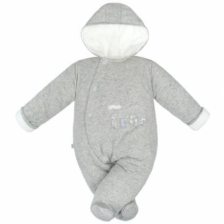 Zimní kojenecká kombinéza Baby Service Animals šedá