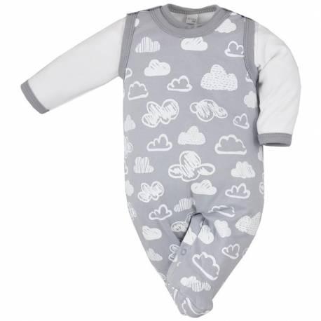 2-dílná kojenecká souprava Koala Clouds bílé obláčky