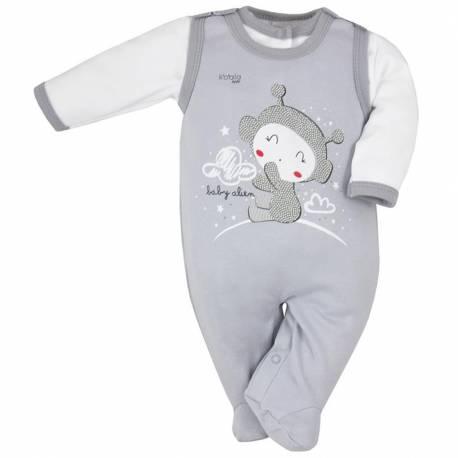 2-dílná kojenecká souprava Koala Clouds šedá
