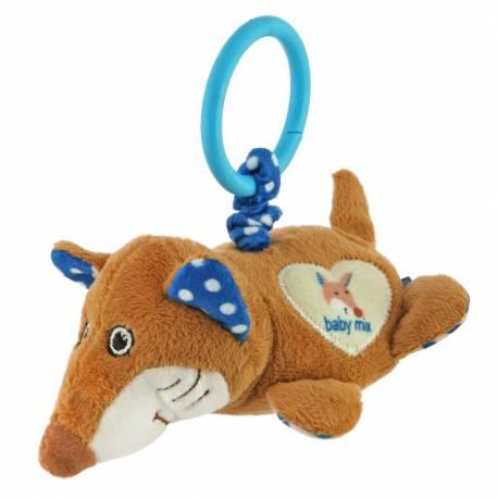 Plyšová hračka s vibrací Baby Mix liška modrá
