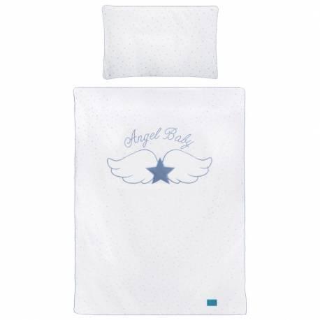 3-dílné ložní povlečení Belisima Angel Baby 100/135 modré