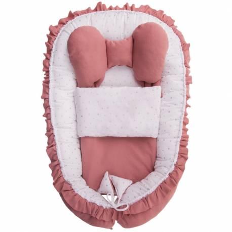 Hnízdečko s peřinkou pro miminko Belisima Angel Baby růžové