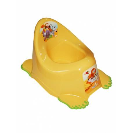 Dětský nočník protiskluzový Safari žlutý
