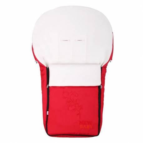 Luxusní fleecový fusák New Baby červený