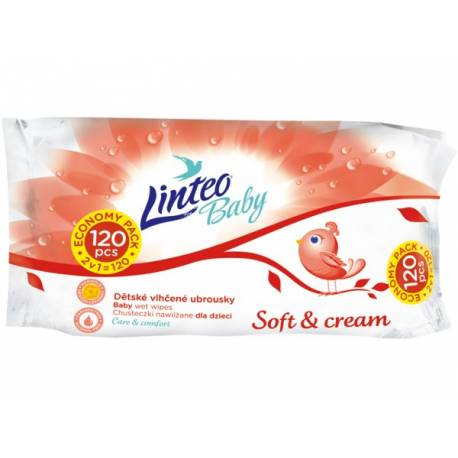 Vlhčené ubrousky Linteo Baby 120 ks Soft and cream