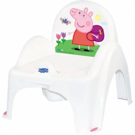Dětský nočník s poklopem Prasátko Peppa white-pink