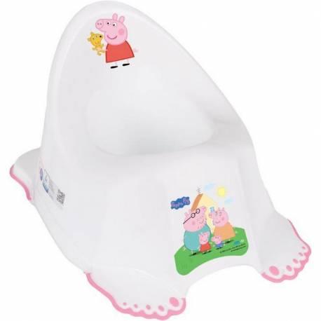 Dětský nočník protiskluzový Prasátko Peppa white-pink