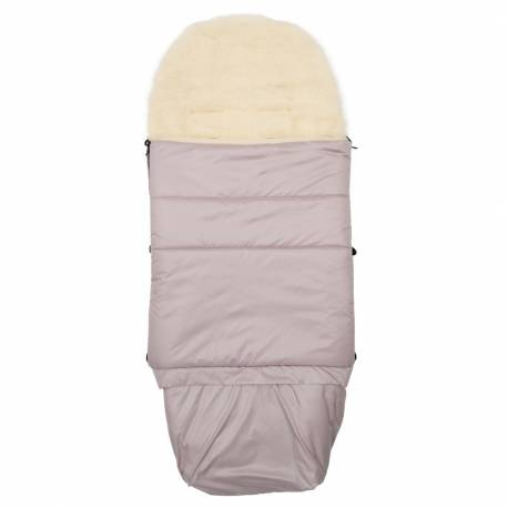 Dětský fusák New Baby 3v1 s ovčím rounem růžový