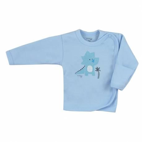Kojenecká bavlněná košilka Koala Farm modrá