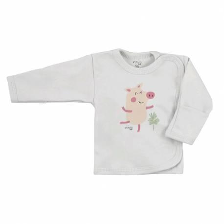 Kojenecká bavlněná košilka Koala Farm béžová