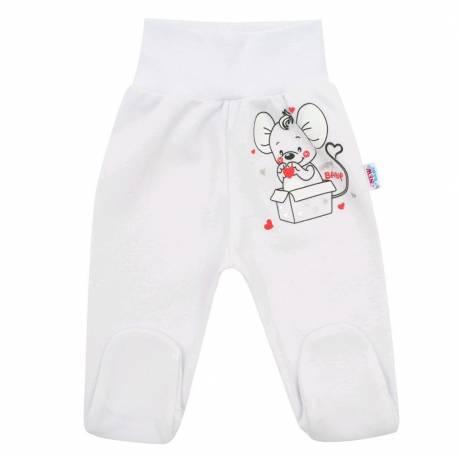 Kojenecké polodupačky New Baby Mouse bílé