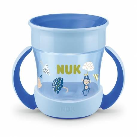 Dětský hrníček Mini Magic NUK 360° s víčkem modrý