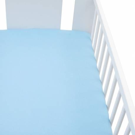 Jersey prostěradlo do postýlky New Baby 120x60 modré