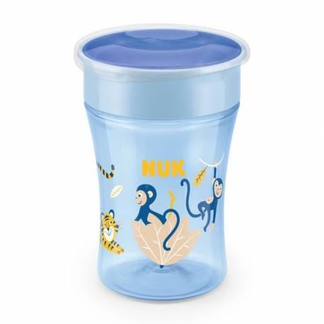 Dětský hrníček Magic NUK 360° s víčkem blue