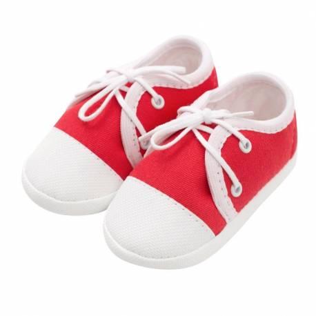 Kojenecké capáčky tenisky New Baby červené 3-6 m