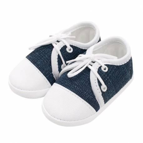 Kojenecké capáčky tenisky New Baby jeans modré 3-6 m