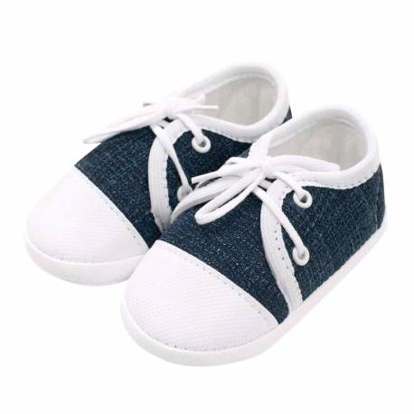 Kojenecké capáčky tenisky New Baby jeans modré 12-18 m