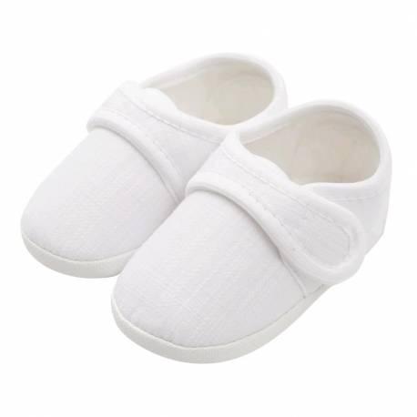Kojenecké capáčky New Baby Linen bílé 3-6 m