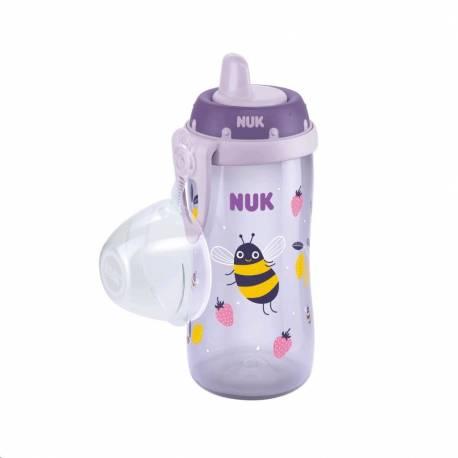 Dětská láhev NUK Kiddy Cup 300 ml fialová