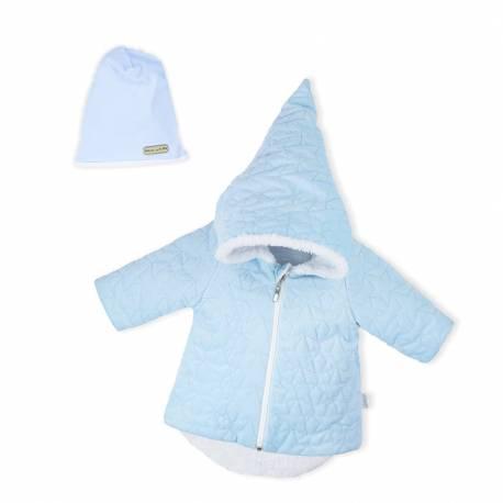 Zimní kojenecký kabátek s čepičkou Nicol Kids Winter modrý