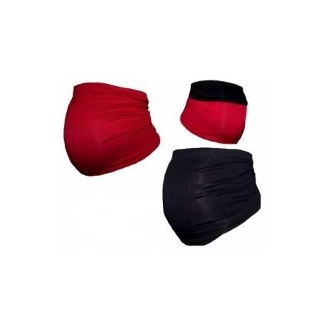 Be MaaMaa Tehotenský pás DUO - červená s čiernou