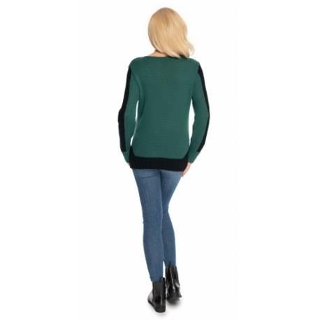 Be Maamaa Tehotenský sveter - zeleno/čierny