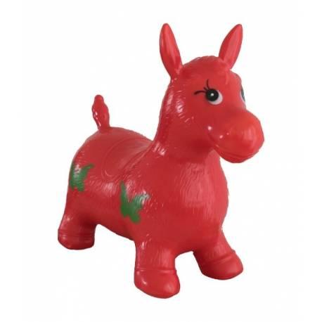 Teddies Hopsadlo kôň skákacie gumový červený 49x43x28cm v sáčku.