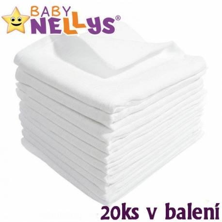 Kvalitné bavlnené plienky Baby Nellys - TETRA LUX 70x80cm, 20ks v bal.