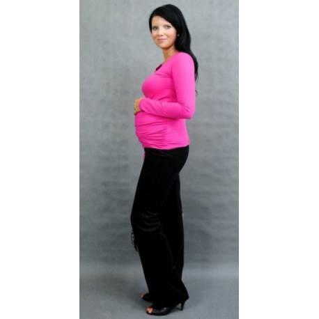 Be MaaMaa Tehotenské tričko ELLIS - ružová
