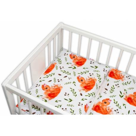 Baby Nellys Bavlnené obliečky 135x100 - Veverička, 135 x 100