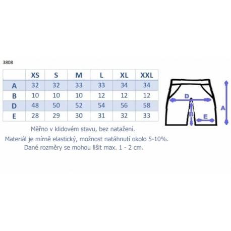 Be MaaMaa Tehotenské, bavlnené kraťasy s odpárateľným pásom - biele, vel´. XL