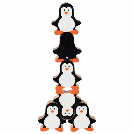 Goki Drevená skladacia hra - tučniaky, 18ks