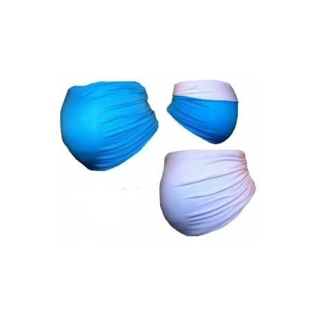 Be MaaMaa Tehotenský pás DUO - modrá s bielou