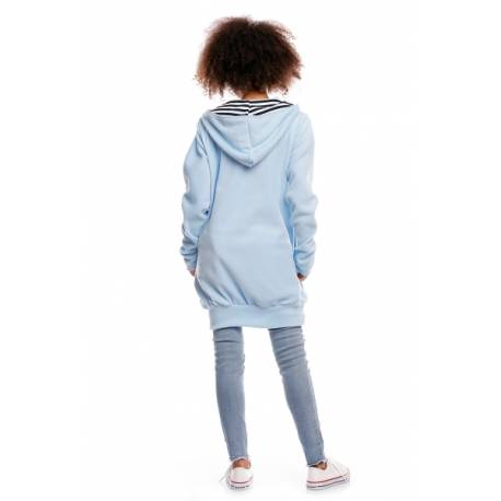 Be MaaMaa Tehotenská/dojčiaca mikina polar - sv. modrá, veľ. XL