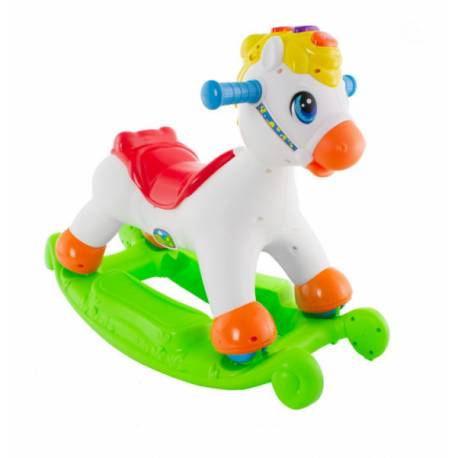 Euro Baby Hojdací kôň 2v1 s melodií, 18m+