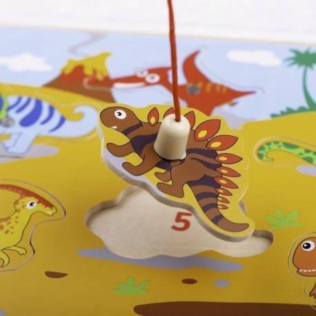Bigjigs drevené magnetické puzzle - dinosaury